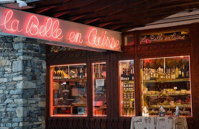 Boutique charcuterie fromage La Belle en Cuisse à Val Thorens